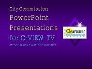 City Council Presentation Guidelines