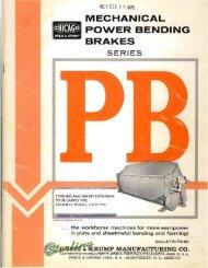 Chicago Dries and Krump Model PB Power Apron Press Brake ...