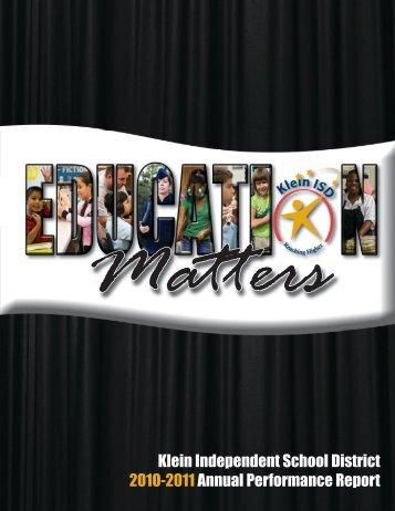 2010-2011 - Klein Independent School District