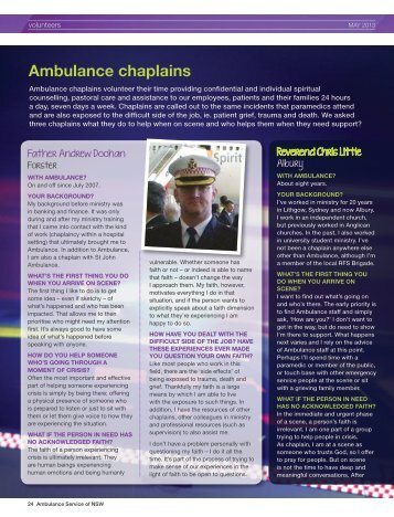Ambulance chaplains - Ambulance Service of NSW