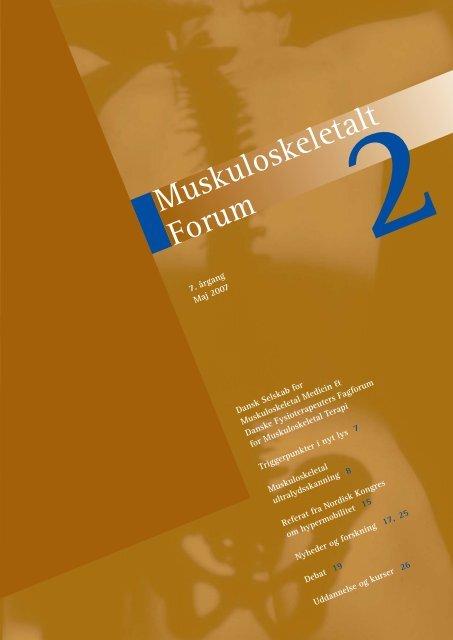 Muskuloskeletalt Forum - 2/2007 (pdf) - Fagforum for ...