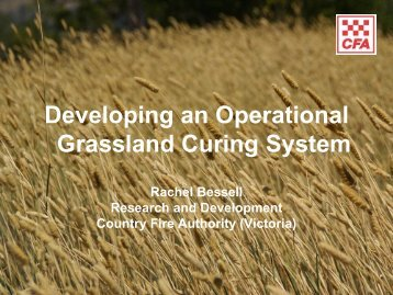 Developing an Operational Grassland Curing System