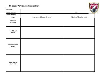 Soccer Drille And Practice Plans - Soccer lesson plan template