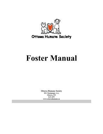 Foster Manual - Ottawa Humane Society
