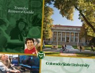 Transfer Viewbook - Admissions - Colorado State University