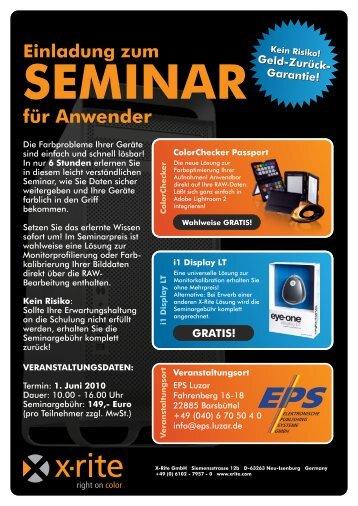 Einladung zum Seminar (PDF-Format, 344 KB) - BENSE ...