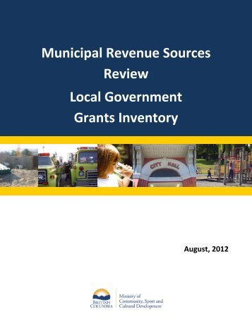 Local Government Grants Inventory - Ministry of Community, Sport ...