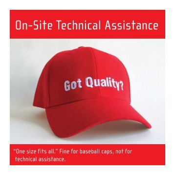NQC Onsite Technical Assistance Brochure - the National Quality ...