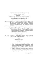 Peraturan Pemerintah No.22 Tahun 2008 - BNPB