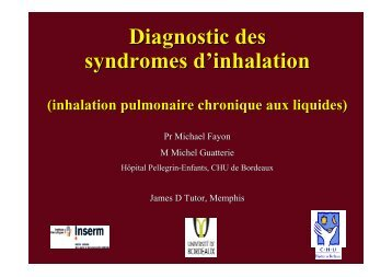 Diagnostic des pathologies d'inhalation - Société pédiatrique de ...