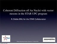 Coherent Diffraction off Au Nuclei with vector mesons in the STAR ...