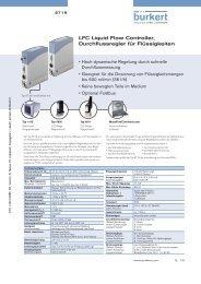 LFC Liquid Flow Controller, Durchflussregler für Flüssigkeiten