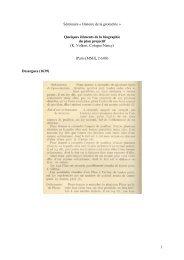 Quelques éléments de la biographie du plan projectif