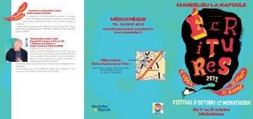 Téléchargez le programme du Festival d'Octobre de la Médiathèque