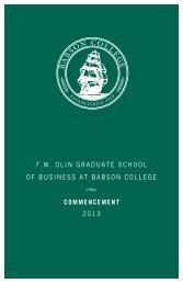 Graduate Information (pdf) - Babson College