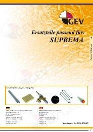 Ersatzteile passend für: SUPREMA -  GEV GmbH