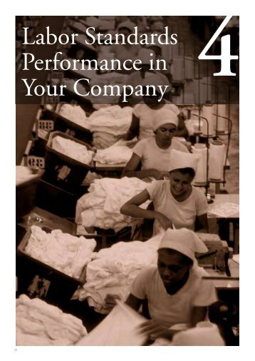 Chapter 4: Labor Standards Performance in Your Company - IFC