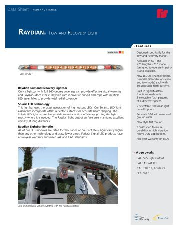 federal signal raydian series towing recovery lightbars?quality=85 54 26 freightliner servic