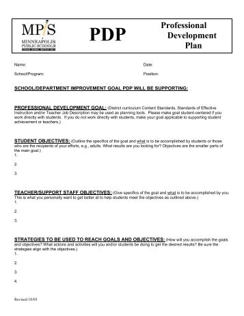 Sample Individual Professional Development Plan Ipdp Goals