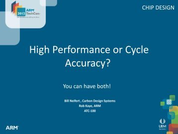 High Performance or Cycle Accuracy? - Carbon Design Systems