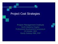 Project Cost Strategies - North Alabama Chapter - Project ...