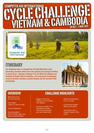 Vietnam Cambodia Itinerary - Computer Aid International