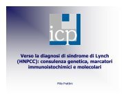 Verso la diagnosi di sindrome di Lynch (HNPCC): consulenza ...