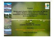 """Proyecto """"Modelo para la Gestión Hídrica Sustentable del ... - cazalac"""