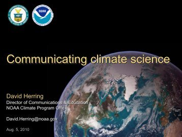 Communicating climate science