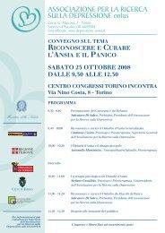 Convegno Ottobre 2008 sul tema - Associazione per la Ricerca sulla ...