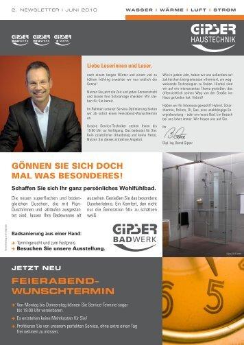 FEIERABEND– WUNSCHTERMIN - GIPSER Haustechnik
