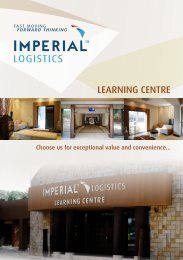 LEARNING CENTRE - IMPERIAL Logistics