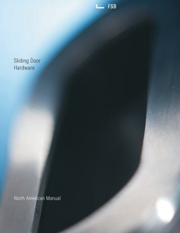 Sliding Door Hardware PDF, 1.4 mb - FSB