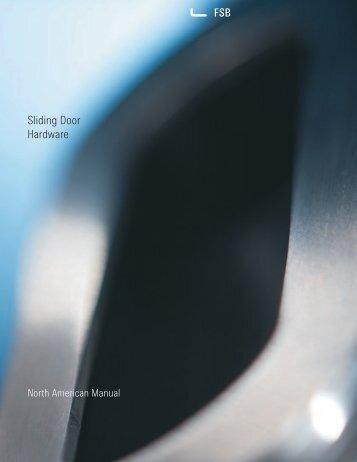 Sliding Door Hardware PDF, 1.4 Mb   FSB