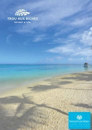 Resort Overview (PDF) - Beachcomber Tours