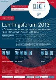 1. ÖstErrEIchIschEn LEhrLInGsforUM - Business Circle