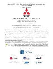 MMC AUTOMOTORES DO BRASIL S.A. - BTG Pactual