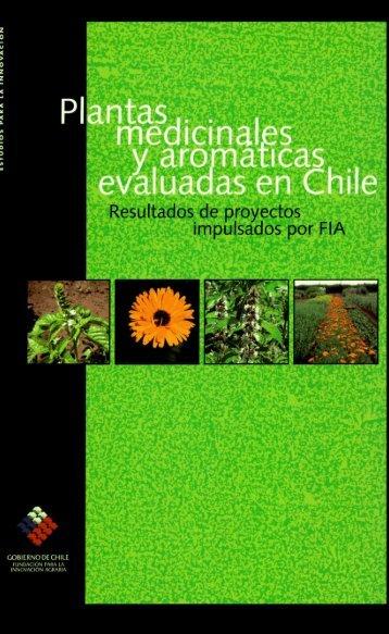 Plantas medicinales y aromáticas evaluadas en Chile