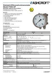 Datenblatt F5503-HP - Ashcroft Instruments GmbH