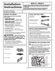 Instrucciones de instalación - GE Appliances