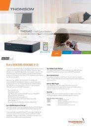 THG540 - VoIP Cable Modem Euro-DOCSIS/DOCSIS 2.0