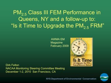PM2.5 Class III FEM Performance in Queens, NY and a ... - ladco