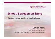 School, Bewegen en Sport - Dag van het Sportonderzoek
