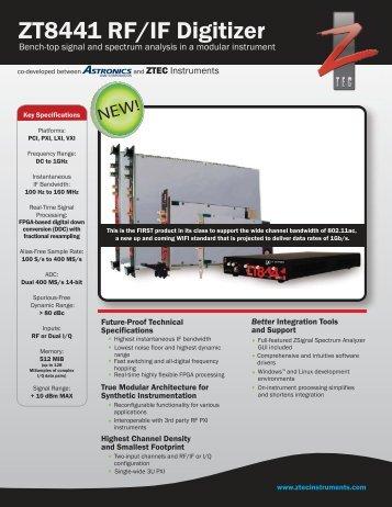 ZT8441 RF/IF Digitizer - Egmont Instruments