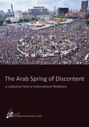 The Arab Spring of Discontent - e-International Relations