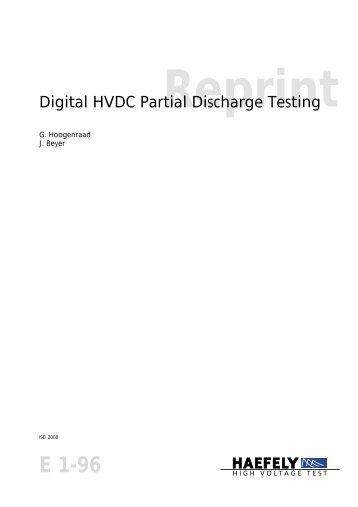 Digital HVDC Partial Discharge Testing - Haefely Test AG