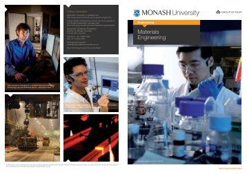 Materials Engineering - Faculty of Engineering - Monash University