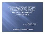 studiul factorilor critici in dizolvarea si eliberarea - Prezentare