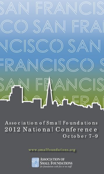 2012 National Conference - Association of Small Foundations