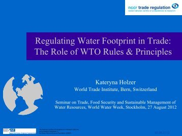 Presentation Kateryna Holzer - World Trade Institute